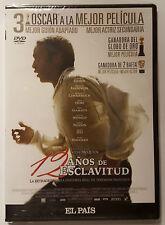 PELICULA DVD 12 AÑOS DE ESCLAVITUD PRECINTADA ESTUCHE FINO