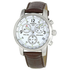 TISSOT T-Sport PRC200 Chronograph Mens Watch T17.1.516.32 Brown White Watch