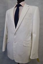 Men's White Morco Carlotti Cotton Jacket Blazer 40R SK921
