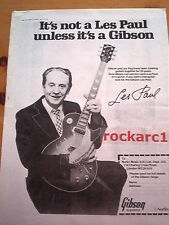 LES PAUL GIBSON GUITAR 1979 UK Poster size Press ADVERT 16x12 inches