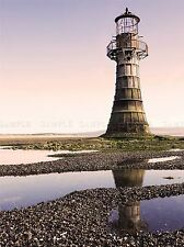 WHITEFORD LIGHTHOUSE WALES SEASIDE BEACH ART PRINT POSTER PICTURE BMP1091A