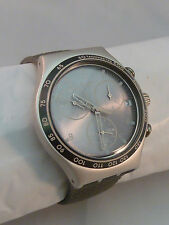 Swatch Irony Watch Aluminum Case Chrono Tachymeter Water Resistant 4 Jewels