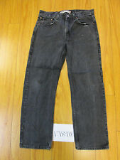 destroyed levi feather black 505 regular fit jean tag 34x30 meas 34x29 17891F