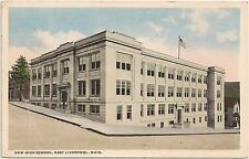 New High School in East Liverpool OH Postcard 1915
