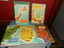 AROUND THE WORLD PROGRAMS AMERICAN GEOGRAPHICAL SOCIETY 1955 1956 NEW STAMPS