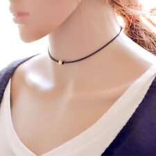 Boho Single Bead Choker Adjustable Cord Necklace Indie Hipster Jewellery Goth