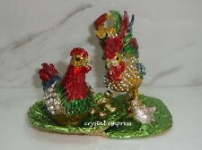 Feng Shui - 2016 Bejeweled Rooster Family for Happy Family & Descendant Luck