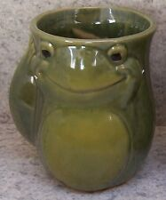 Coffee Mug Hand Warmer Green Frog right NEW 15 ounce cup with gift box
