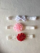 Baby Girls Headbands Newborn / Reborn- Cute Frilly Headband Bundle