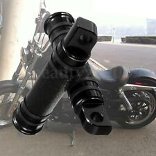 Black CNC Aluminum Rear Front Motorcycle Foot Peg For Harley TouringDyna Softail