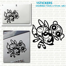super nenas The Powerpuff Girls  silueta pegatina sticker Aufkleber