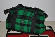 Polo Ralph Lauren Leather Trim Plaid Wool Duffle Bag