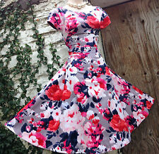 Beautiful&Feminine MONSOON *Bloom* Rockabilly/50s-inspired floral dress size 16