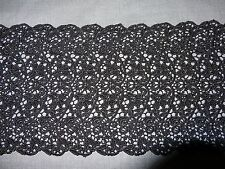 "Stretch Venise Lace in Black Rayon - 5 1/2"" Wide - 10 yds for $25.99"