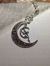 "FILIGREE Crescent Moon Fairy SAILOR MOON ANTICO TONO SILVER 18 ""collana"
