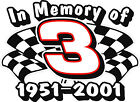 In Memory of Dale Earnhardt Sr Decal Sticker
