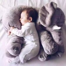 Animal Elephant Doll Stuffed Plush Baby Toys Pillow Room Bed Sleep Grey 60cm Toy