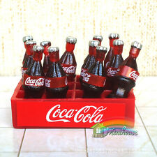 12x dollhouse coca cola  miniature glass bottles  1:12 Toy Kitchen Drink