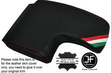 RED STITCH ITALIAN FLAG ARMREST LID LEATHER COVER FITS ALFA ROMEO BRERA 06-11