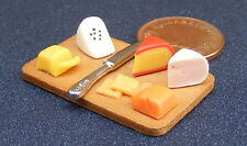 1:12 Scale Cheese On A Board Dolls House Miniature Delicatessen Food Shop 277
