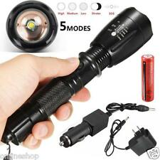 5000LM CREE XML T6 LED Flashlight Torch Rechargeable 18650 Battery+Charger