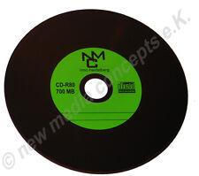 50 GRÜNE Vinyl CD Rohlinge Schallplattendesign Label - Carbon