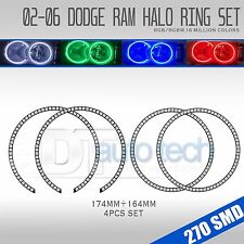 02-05 Ram Bluetooth Multi-Color Angel Eyes LED RGB Headlight Halo Ring Set