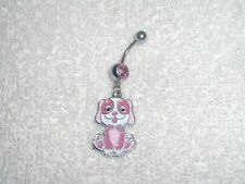 Puppy Dog Pet Charm Design Belly Button Navel Ring Body Jewelry Piercing