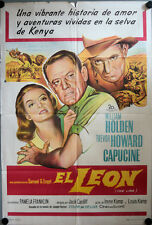 Patricia und der Löwe Filmposter ARGENTINIEN The Lion William Holden, Capucine