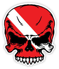 "Scuba diving skull flag dive diver sticker decal 4"" x 5"""