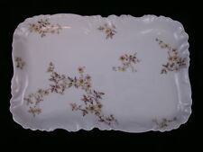"""Haviland Limoges France 10.5"""" Platter Tray Yellow Floral 9 Blank H & Co Ca.1890"""
