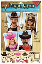 PHOTO BOOTH KIT 18PC COWBOY RODEO BARN DANCE WESTERN PARTY DECORATIONS TABLEWARE