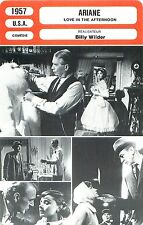 FICHE CINEMA FILM USA  ARIANE / LOVE IN THE AFTERNOON Réalisateur Billy Wilder