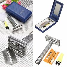Classic Vintage Stainless Steel Double Edge Shaving Blades Shaver Safety Razor