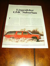1994 CHEVROLET GMC SUBURBAN LINGENFELTER 605 C.I.  ***ORIGINAL ARTICLE***
