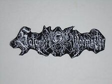 SATANIC WARMASTER BLACK METAL IRON ON EMBROIDERED PATCH