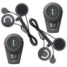2x 500M Bluetooth Auricolare Interfono interphone BT Moto Casco intercom MIC FM