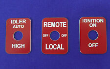 Lincoln Welder SA-200 SA-250 Toggle Switch Legend Plates Idler Remote Ign. RED