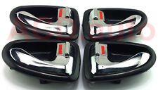 Fit For 00-05 Hyundai Accent Verna Inside Door Handle (Chrome) Left Right 4pcs