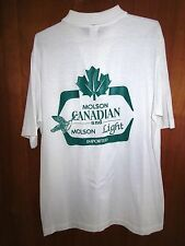 MOLSON beer delivery shirt lrg beat-up polo CANADA vtg logo thin 1980s OG pocket