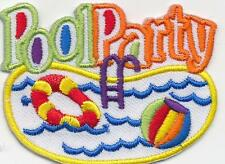 Girl Boy Cub POOL PARTY day swimming Fun Patches Crests Badges SCOUT GUIDE