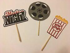 Movie Night Birthday Theme Cupcake toppers