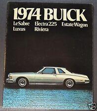 1974 Buick Brochure Riviera LeSabre Electra 225 Luxus Estate Wagon Canadian 74