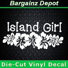.. Vinyl Decal... ISLAND GIRL..  Awesome Vinyl Sticker Decal Car Laptop Beach
