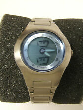 RARE WOMEN'S FOSSIL JR800 CHINESE ASIAN KANJI ANALOG/DIGITAL WATCH - PREOWN