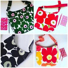 Marimekko Bag Purse Unikko Fabric Messenger Purse bag, Cross Body Bag,