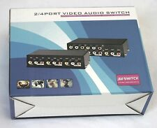 4-Way 3-RCA Composite Video Audio AV Switch switcher Input Select 4in-1out
