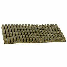 "Grodan 1"" x 1 inch 200 Count Sheet Rockwool Stonewool Grow Media starter cubes"