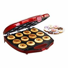 NEW VonShef Deluxe 12 Hole Electric Donut Maker Snack Machine Red FREE SHIPPING