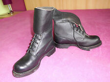 LEATHER BLACK BOOTS of Polish Army 1955-1989 SHOES WARSAW PACT MORO time 25 size